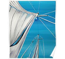 Sailboat sail Amel 1 Oil on Canvas Painting Poster