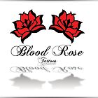 Blood Rose Tattoos' Logo and Typeface by Retrograde Designs
