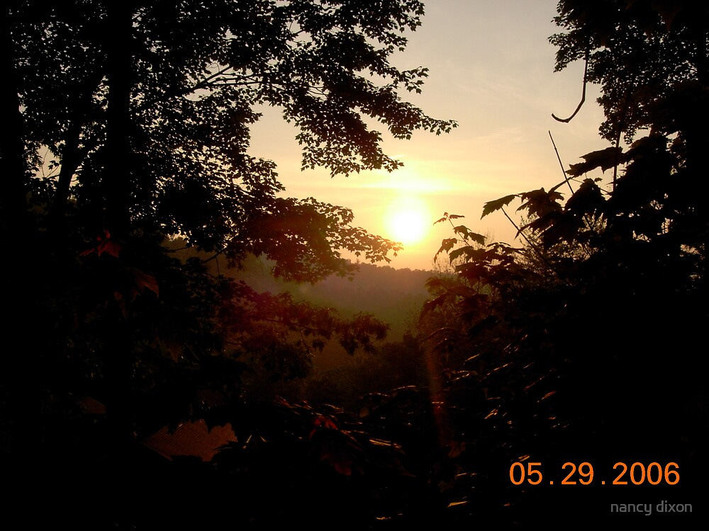 sunset in North Carolina by nancy dixon