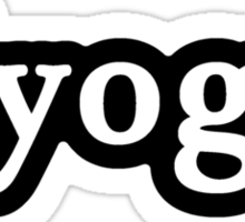 Yoga - Hashtag - Black & White Sticker