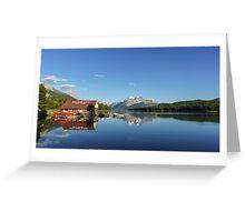Maligne Lake Boat House Greeting Card