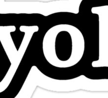 YOLO - Hashtag - Black & White Sticker