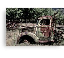 Road Decay Canvas Print