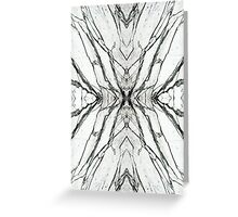 White marble butterfly phone case Greeting Card