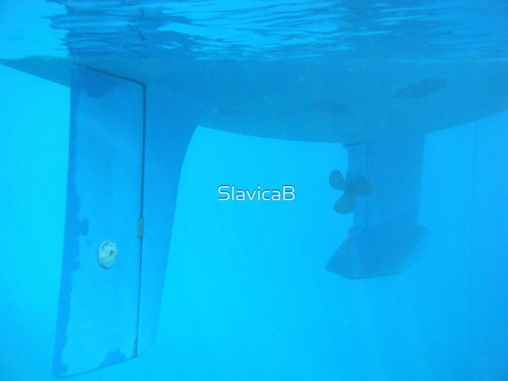 Amel Santorin Sailboat Underwater by SlavicaB