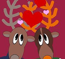 Reindeers in Love by katstpete