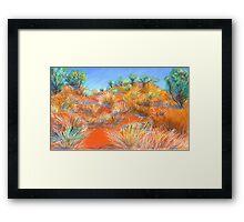 Grasses at Katatjuta Framed Print