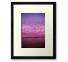 Fairy Floss Sunset Framed Print