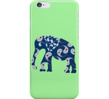 Elephant with Paisley pattern - east style iPhone Case/Skin