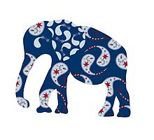 Elephant with Paisley pattern - east style by luizavictorya72