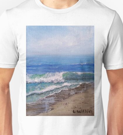 Sunny Day, Wave on the Beach Unisex T-Shirt