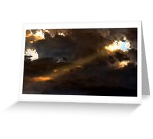 Heavenly Spotlight Greeting Card
