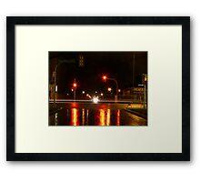 Portage Ave at Night Framed Print