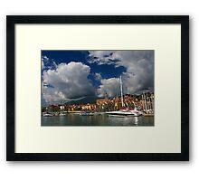 Menton Harbour Framed Print