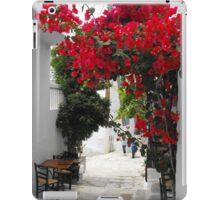 Greek Island street and flowers 1 iPad Case/Skin