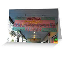 Key West Jimmy Buffet Margaritaville Store Greeting Card