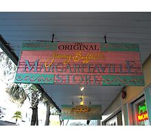 Key West Jimmy Buffet Margaritaville Store Photographic Print