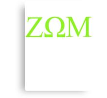 Zeta Omega Mu Canvas Print