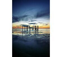 Twilight at Port Willunga Photographic Print
