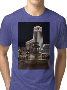 Night Glow at the Venetian Las Vegas Tri-blend T-Shirt
