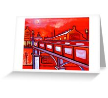 Bridge over a river in north east England  (from my original acrylic painting) Greeting Card