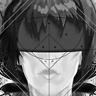 Beautiful Fractal Feathers for Major Motoko in Black and White by jaya-prime