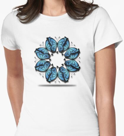 Dreaming of Butterflies Womens Fitted T-Shirt