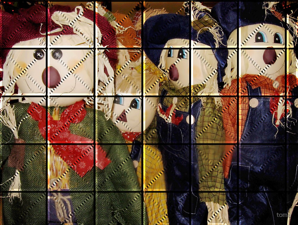 quilted scarecrows by toma