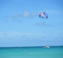 Miami parasailing on the ocean by SlavicaB