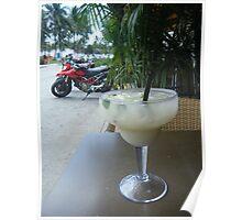 Margarita drink and Ducatti in Miami Poster