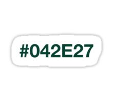 #042E27 – Dark Green Sticker