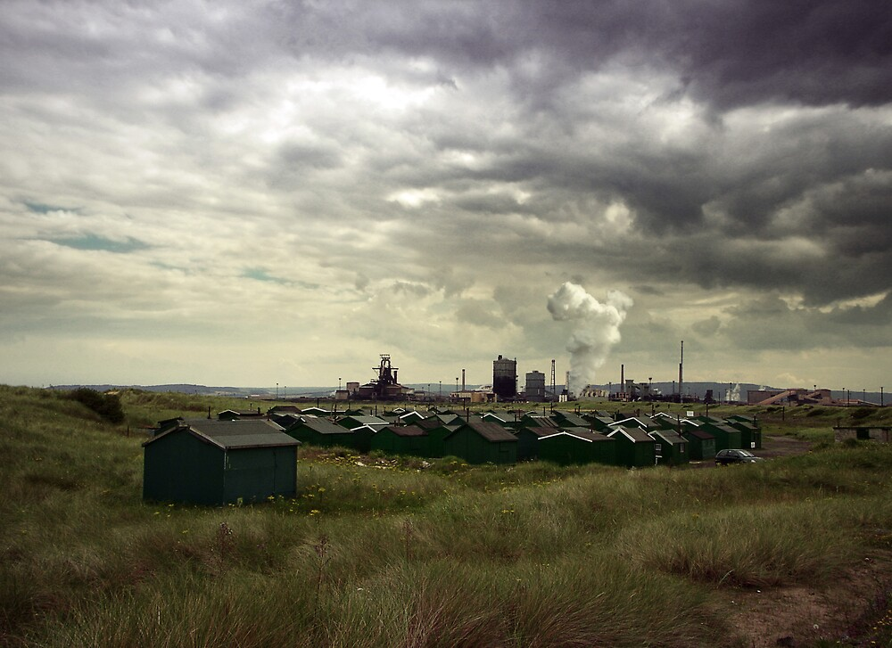 Huts and Smoke by Martyn Robertshaw
