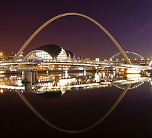 River Tyne at Night by Martyn Robertshaw