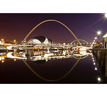 River Tyne at Night Photographic Print