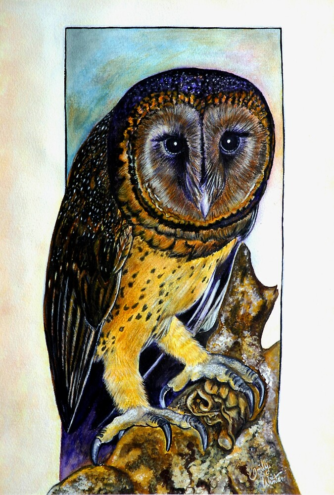 Owl For Val Night Bird. by EmilyWinter