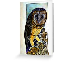 Owl For Val Night Bird. Greeting Card