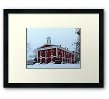 Iron County Courthouse Dressed for Christmas Framed Print