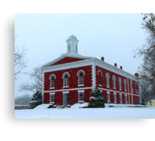 Iron County Courthouse Dressed for Christmas Canvas Print