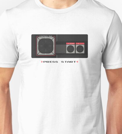 Press Start Master System (white) Unisex T-Shirt