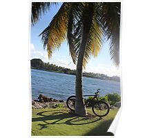 Bicycle in Florida, South Miami Beach Poster