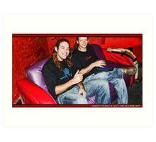 dj Iguana (Naked Tourist/Germany) & Ozzy (Tribeadelic/Australia) Art Print