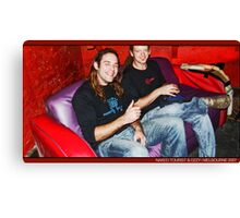 dj Iguana (Naked Tourist/Germany) & Ozzy (Tribeadelic/Australia) Canvas Print