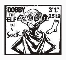 Dobby The Elf Has A Sock by ninjabakery