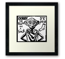 Dobby The Elf Has A Sock Framed Print