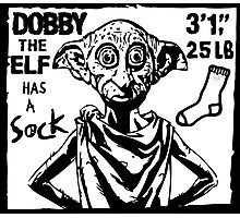 Dobby The Elf Has A Sock Photographic Print