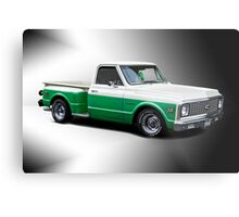 1971 Chevrolet C10 Stepside Pickup 'Studio 1' Metal Print