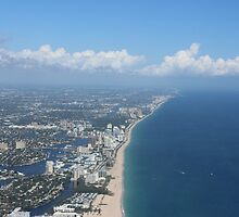 Fort Lauderdale beach view from plane by SlavicaB