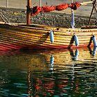 Harbour Reflections 2 ~ Lyme Regis by Susie Peek