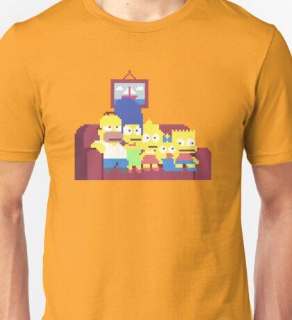 The Simpsons 8-Bit Pixels Design Unisex T-Shirt