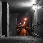Light at the end of the tunnel, Barnstaple, North Devon by dykerphotoart